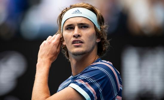 ALEXANDER ZVEREV (GER)  TENNIS , AUSTRALIAN OPEN,  MELBOURNE PARK, MELBOURNE, VICTORIA, AUSTRALIA, GRAND SLAM, HARD COURT, OUTDOOR, ITF, ATP, WTA, 2020
